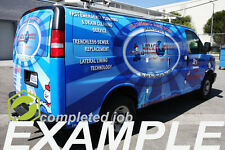 Full Custom Cast Vinyl Wrap HP/3M – Chevy Express/GMC Cargo Van FREE SHIPPING!