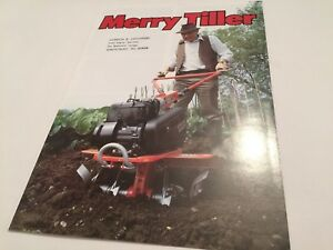 MERRY TILLER Cultivators Rotavator Original Late 1970s -early 80s Sales Brochure