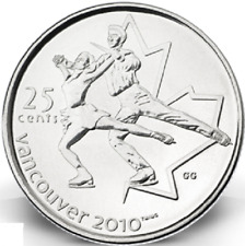 2008 Uncirculated Canadian Olympic Figure Skating Quarter $0.25