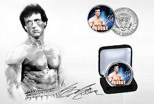 Sylvester Stallone-Rocky Balboa édition limitée JFK demi-dollar Coin & COA