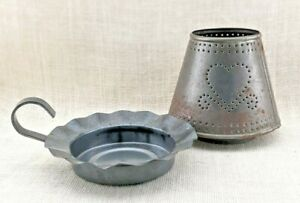 Punched Metal Votive or Tealight Candle Holder - Rustic - Country Chic