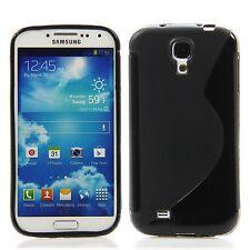 Samsung Galaxy S4 Silikon Case Schutz Hülle Bumper S-Line Schwarz