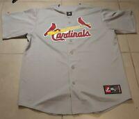 VTG  Men's St. Louis Cardinals Away Gray Jersey Size L MLB baseball Large grey