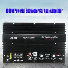 12V 1000W Mono Car Audio Power Amplifier Powerful Bass Subwoofers Amp PA-80D