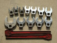 Snap-on Metric & SAE 12Pc 3/8 Dr. Open End CrowFoot Set
