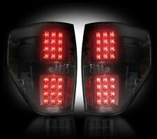 Recon SMOKED LED Tail Lights Ford Raptor & F150 2009-2014 # 264168BK
