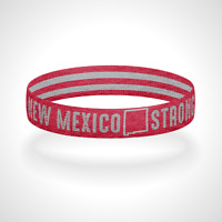 New Mexico Strong Reversible Wristband Bracelet Multiple Colors Available