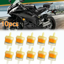 """10pcs Universal Lawn Mower Motorcycle Inline Gas Fuel Filter Parts 6MM-7MM 1/4"""""""
