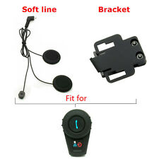 Soft Line Earpiece +Bracket Clip For FDC 500M Motorcycle Intercom Headsets Radio