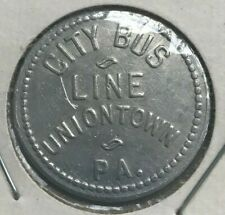 Uniontown Pennsylvania PA City Bus Line 10 Cents Transportation Token