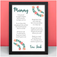 Mummy Mum Nanny Nan Granny PERSONALISED Poem Keepsake Birthday Gifts for Her