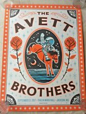 AWESOME! THE AVETT BROTHERS concert tour poster print JACKSON MS SN/#'D 9-21-17