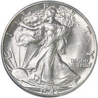 1947 D Walking Liberty Half Dollar 90% Silver BU US Coin