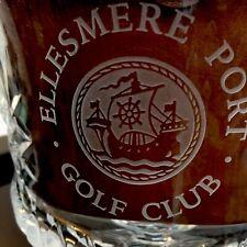 Golf Award Prize Ellesmere Port Golf Club Beautiful Heavy Hand Cut Crystal Bowl
