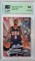 LeBron James 2003-04 Skybox/Fleer Team USA Rookie Card PGI 10 Lakers