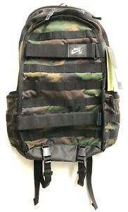 NIKE SB RPM GRAPHIC BACKPACK GREEN WOODLAND CAMO BA5404-223 MSRP 90