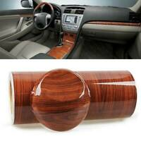 1M High Glossy Wood Grain Vinyl Auto Sticker Decal Roll Car Interior DIY Film C