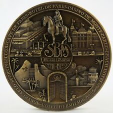 "Rare, MEDAILLE de Table Bronze Marcel SBIRAZOLI ""Hôtels et Casinos SBM MONACO"""