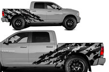 Vinyl Decal Halfside Shred Wrap Kit for Dodge Ram 1500/2500 09-18 5.7 BED BLACK