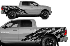 Vinyl Decal Halfside Shred Wrap Kit for Dodge Ram 1500/2500 09-14 SHORTBOX Black