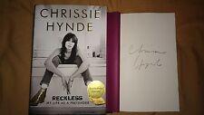 Chrissie Hynde Reckless My Life as a Pretender 1/1 HC DJ Rare Signed Book Memoir