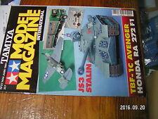 1µ?a Revue Tamiya Model Magazine n°27 F-86F-30 Sabre JS3 Stalin Volvo 850 BTCC