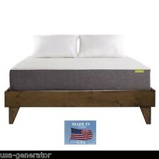 CAL KING Size Wood Bed Frame Platform Walnut Dark Brown Finish MADE IN USA NEW