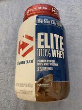 Dymatize - ELITE 100% WHEY PROTEIN - 2 lbs - 25 Serv - rich chocolate Exp 09/21