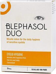 Thea Blephasol Duo: 100ml x 1 Blephasol & 100 cotton pads: Blepharitis