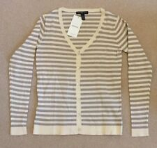 BNWT Mango Cotton Striped Cardigan Ladies/Womens Size: XS, V-necked buttoned