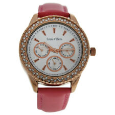 36835417fee7 LV2079 Rose Gold Pink Leather Strap Watch by Louis Villiers for Women