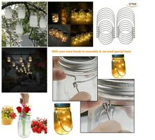 Wire Handles For Outdoor Decoration Stainless Steel Mason Jar Hanger Pack of 12