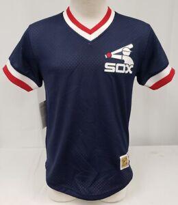 Brand New Men Mitchell & Ness MLB Chicago White Sox Mesh Shirt Jersey S
