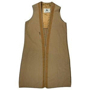 Burberry Cashmere Liner Waistcoat Coat Vest Jacket Size Large Mac Nova Check