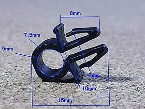 10 wiring harness fastener fixed clips pipe tie wrap cable clamp cars van boats