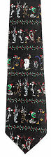 Looney Tunes Christmas Mens Necktie Holiday Neck Tie Bugs Taz Wiley Marvin New