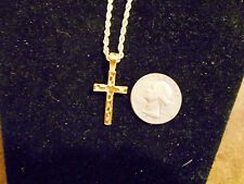 bling gold plated jesus cross crucifix pendant charm fashion hip hop necklace gp