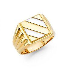 14K Two Tone gold Square Signet Ring EJRG1466