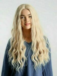 Heat Resistant Wig New Fashion Charm Women's Long Light Blonde Wavy Natural Wigs