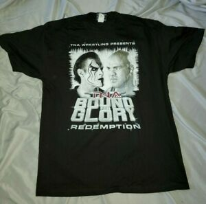 STING vs. KURT ANGLE * official Bound For Glory 2007 PPV Shirt (XL) * Never Worn