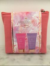 Grace Cole Gift Set, Rose Body Wash 50ml. Lavender Body Cream 50ml, Cruelty Free