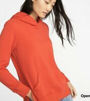 NWT Old Navy Women's Red Relaxed Pullover Hoodie Sweatshirt Size XS