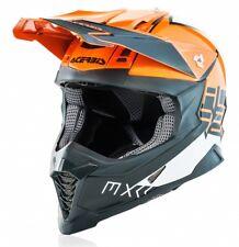 CASCO MOTO CROSS ACERBIS IMPACT X-RACER VTR FIBRA ARANCIONE GRIGIO ORANGE TG L
