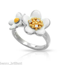 Belle Etoile Daisy Chain White & Gold Ring NWT Size 7