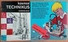 kosmos TECHNIKUS altes Lehrspielzeug Wunderwelt der Techik und Physik