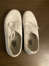 Vans Authenic Decon Premium Leather White Shoes Size : 9
