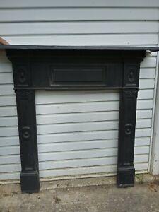 original cast iron fire surround/mantlepiece