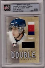 JOHN TAVARES ITG 06/07 Ultimate 3-color #/25 Game-Used Double Jersey Rookie Card