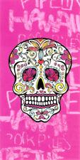 Serviette de plage Drap de bain Tête de mort Méxicaine Crâne rose