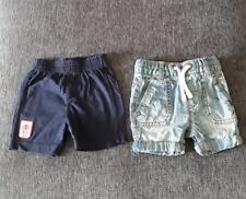 3 to 6 months baby boy shorts. 2 pairs. Next and Nutmeg.
